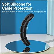 Vention 3 Ports Desktop Cable Manager Black 2 Pack - Organizér kabelů