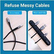 Vention 5 Ports Desktop Cable Manager Black 2 Pack - Organizér kabelů
