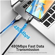 Vention Lightning MFi to USB 2.0 Braided Cable (C89) 0.5M Gray Aluminum Alloy Type - Datový kabel