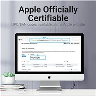 Vention Lightning MFi to USB 2.0 Braided Cable (C89) 2M Gray Aluminum Alloy Type - Datový kabel