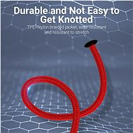 Vention Lightning MFi to USB 2.0 Braided Cable (C89) 1.5M Red Aluminum Alloy Type - Datový kabel