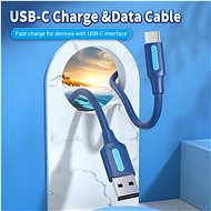 Vention USB 2.0 to USB-C 3A Cable 1M Deep Blue - Datový kabel
