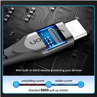 Vention Type-C (USB-C) <-> USB 2.0 Cable 3A Gray 0.25m Aluminum Alloy Type - Datový kabel