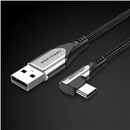 Vention Type-C (USB-C) 90° <-> USB 2.0 Cotton Cable Gray 1.5m Aluminum Alloy Type - Datový kabel