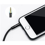 Vention 3.5mm to 3.5mm Jack 90° Audio Cable 1.5m Black Metal Type - Audio kabel