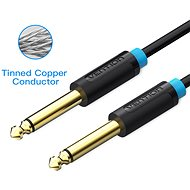 Vention 6.3mm Jack Male to Male Audio Cable 0.5m Black - Audio kabel