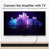Vention Optical Fiber Toslink Audio Cable 1.5m Black - Audio kabel