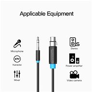 Vention 6.3mm Male to XLR Female Audio Cable 5m Black - Audio kabel
