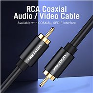 Vention 1x RCA Male to 1x RCA Male Cable 1m Black - Audio kabel