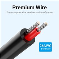 Vention 3.5mm Jack Male to 2-Male RCA Cinch Adapter Cable 2M Black - Audio kabel