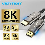 Vention Optical HDMI 2.1 Cable 8K 20m Black Metal Type - Video kabel