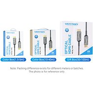 Vention Optical HDMI 2.1 Cable 8K 60m Black Metal Type - Video kabel