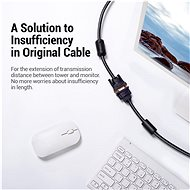 Vention VGA Extension Cable 1.5m Black - Video kabel