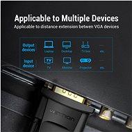 Vention VGA Extension Cable 1.5m Black - Video kabel