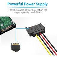 Vention SATA 15P (M) to 2x 15P SATA 90° (F) Power Splitter Cable 0.15M Black - Napájecí kabel
