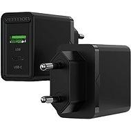 Vention 2-Port USB (A+C) Wall Charger (18W + 20W PD) Black - Nabíječka do sítě