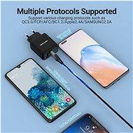 Vention Dual Quick 3.0 USB-A Wall Charger (18W + 18W) Black - Nabíječka do sítě