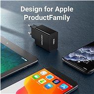 Vention USB Wall Charger 12W Black - Nabíječka do sítě