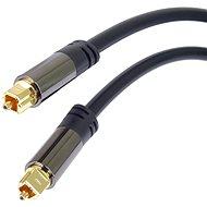 PremiumCord Kabel Toslink M/M, OD: 6mm, Gold 1,5m - Optický kabel