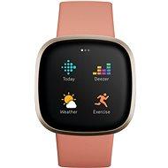 Fitbit Versa 3 - Pink Clay/Soft Gold Aluminum - Chytré hodinky