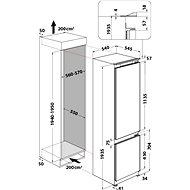 WHIRLPOOL ART 9811 SF2 - Vestavná lednice