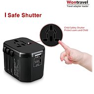 Wontravel JY-303S - UK, EU, US -> EU, UK, US; 2x USB - Cestovní adaptér