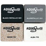 AQUASANITA Lira 960.10E Black metallic - Granitový dřez
