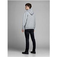 JACK & JONES Světle šedá mikina s kapucí XL - Mikina