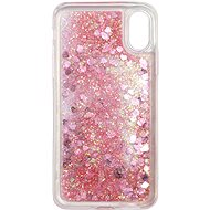 iWill Glitter Liquid Heart Case pro Apple iPhone X / Xs Pink - Kryt na mobil