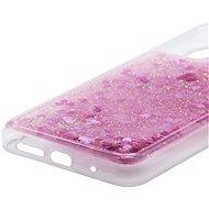 iWill Glitter Liquid Heart Case pro Xiaomi POCO M3 Pink - Kryt na mobil