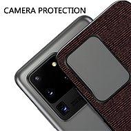 MoFi Fabric Back Cover Samsung Galaxy S20 Ultra 5G Hnědé - Kryt na mobil