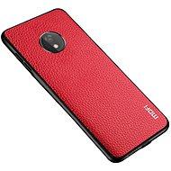 MoFi Litchi PU Leather Case Motorola G7 Power Červené - Kryt na mobil