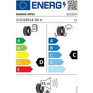 Kumho HP91 Crugen 215/65 R16 98  H - Letní pneu