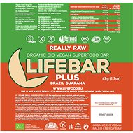 Lifefood Lifebar Plus s guaranou BIO – 15 ks - Raw tyčinka