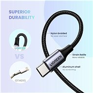Ugreen Type-C (USB-C) to 3.5mm Jack (M) Audio Cable Silver 1m - Redukce