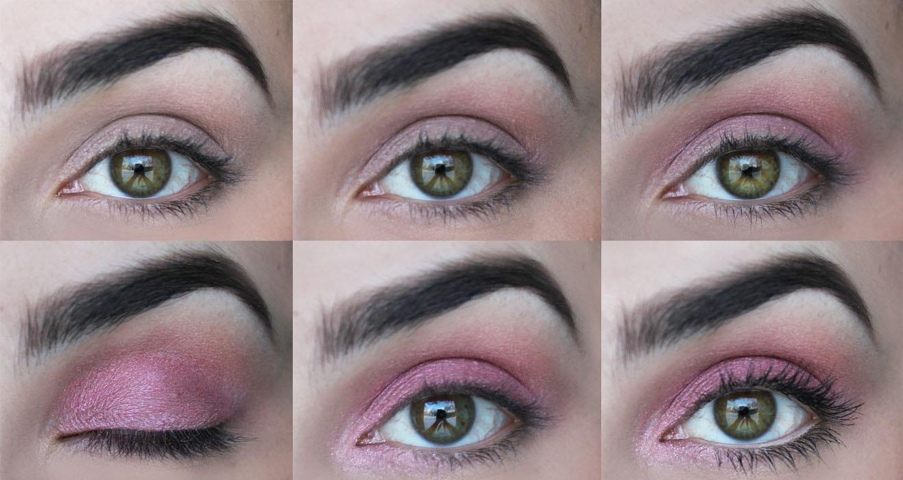 Růžové líčení očí