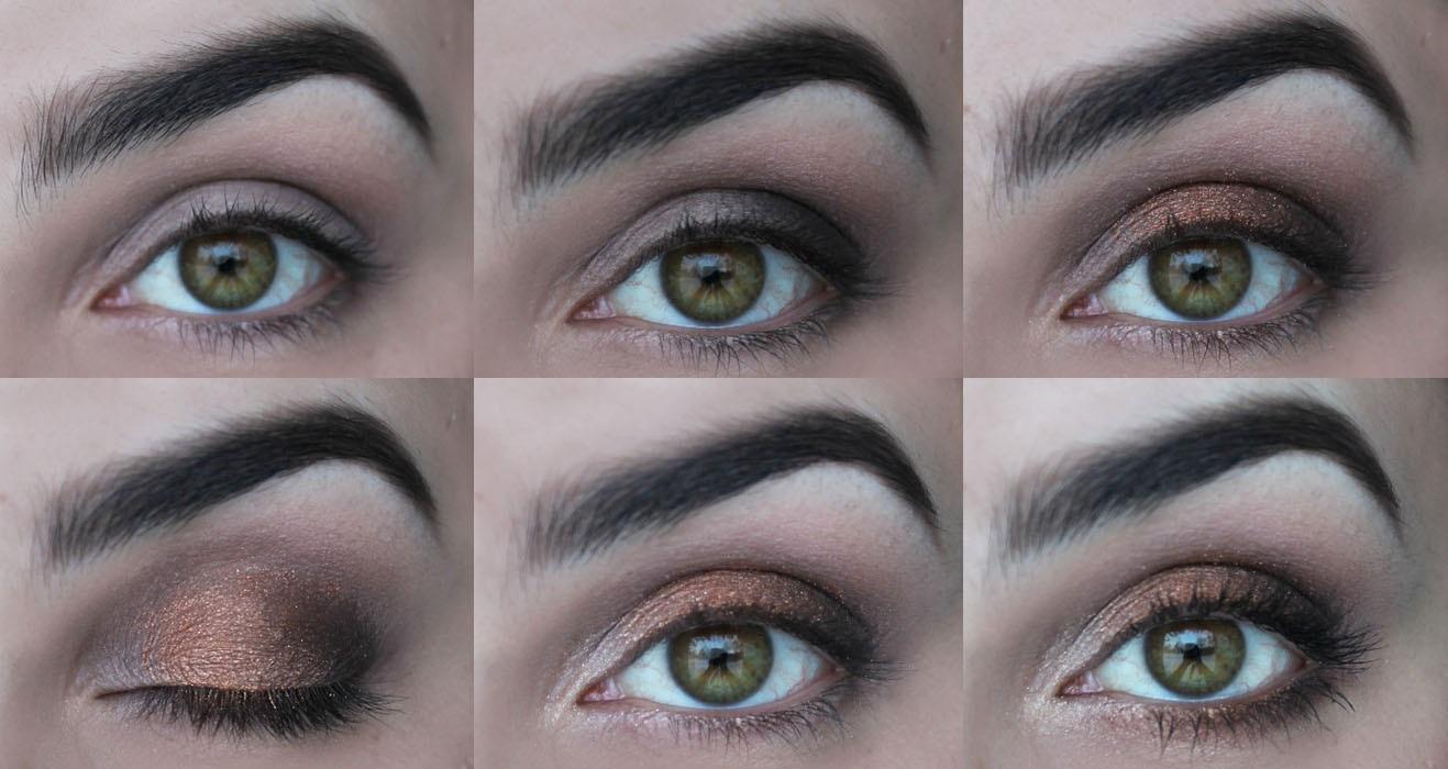 Bronzové líčení očí