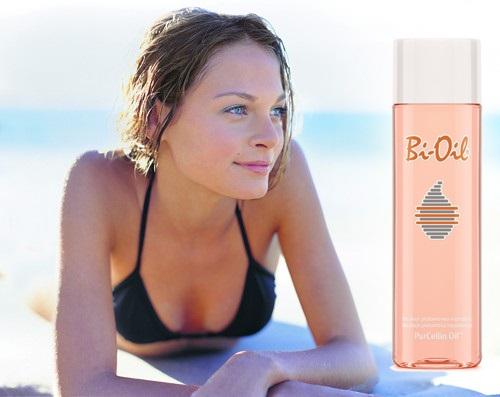 tělový olej bi-oil, odstraňuje strie a jizvy, vyhlazuje pokožku