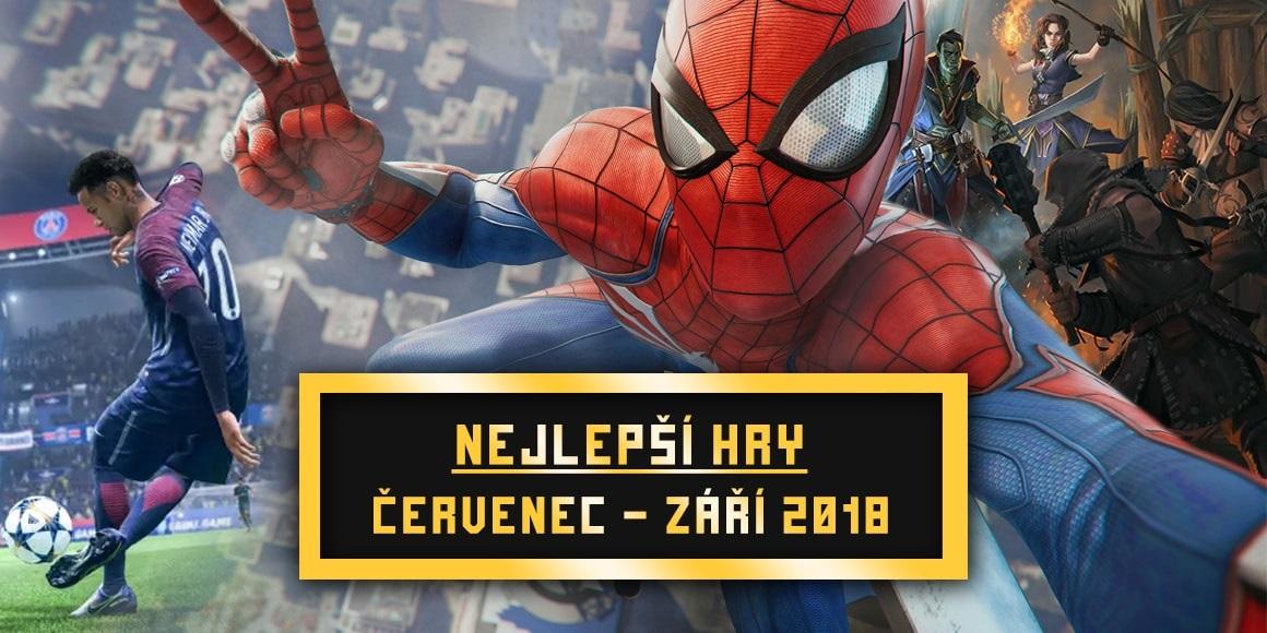 Nejlepší hry Q3 2018; Spider-Man, FIFA 19, Pathfinder: Kingmaker, World of Warcraft: Battle for Azeroth