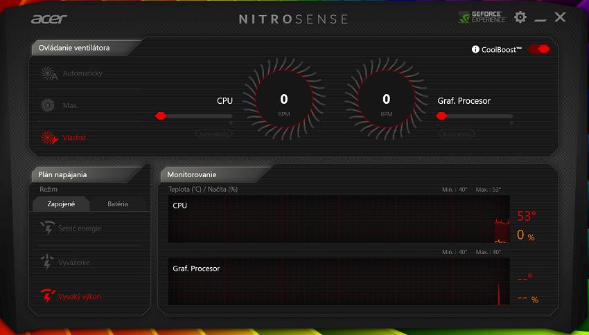 Acer Nitro 5 - NitroSense