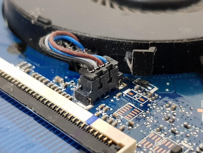 Konektor ventilátoru