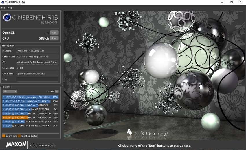 CineBench R15; Test výkonu PC