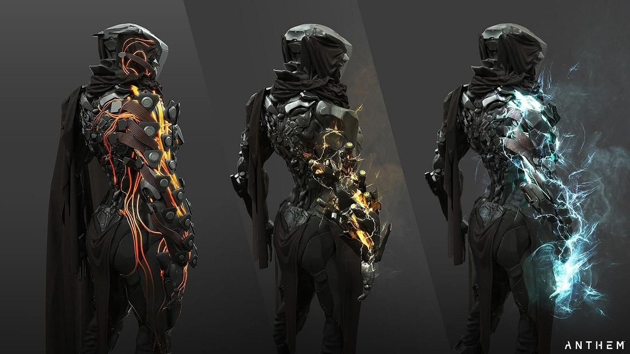 Anthem; exoskelet, oblek, variace
