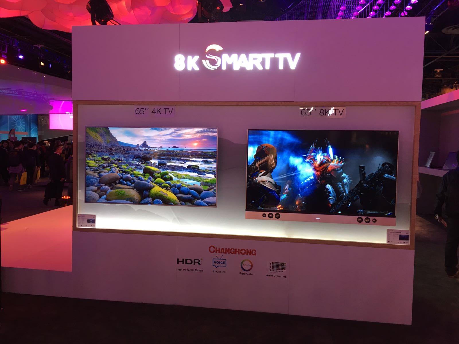 8K Smart TV Changhong; chytrá TV; CES 2017