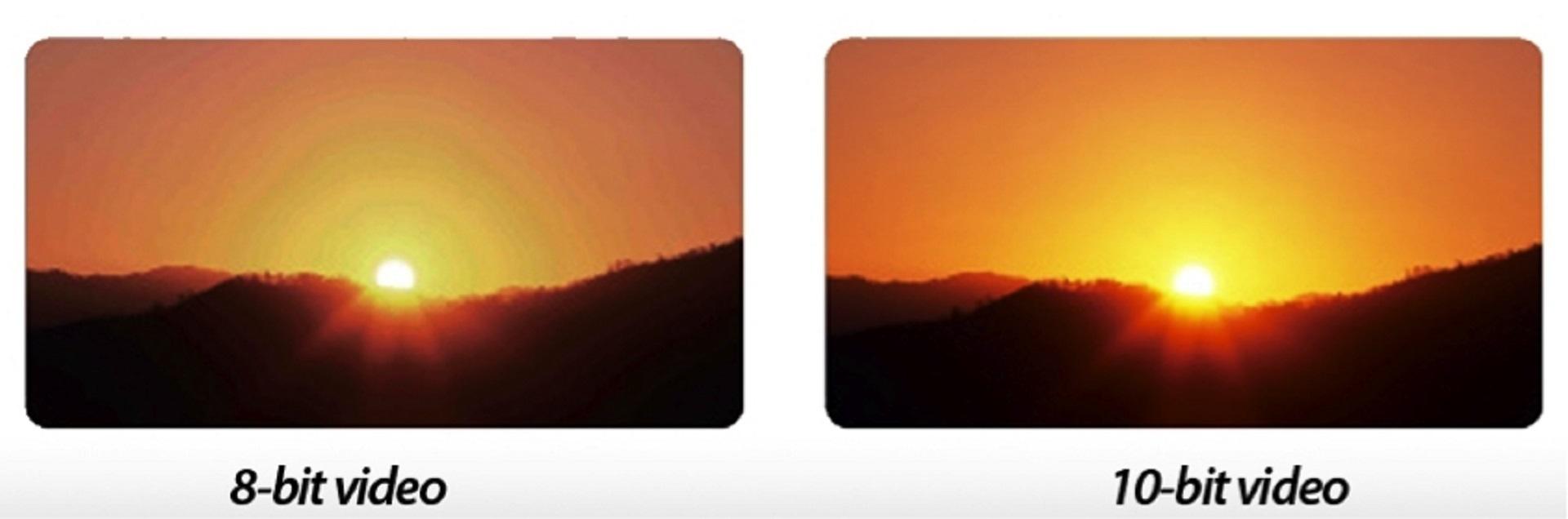 8bit 10bit barevná bitová hloubka.