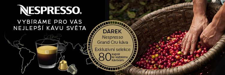 Akce Nespresso. Poukaz na exkluzivní selekci Nespresso Grand Cru kávy.