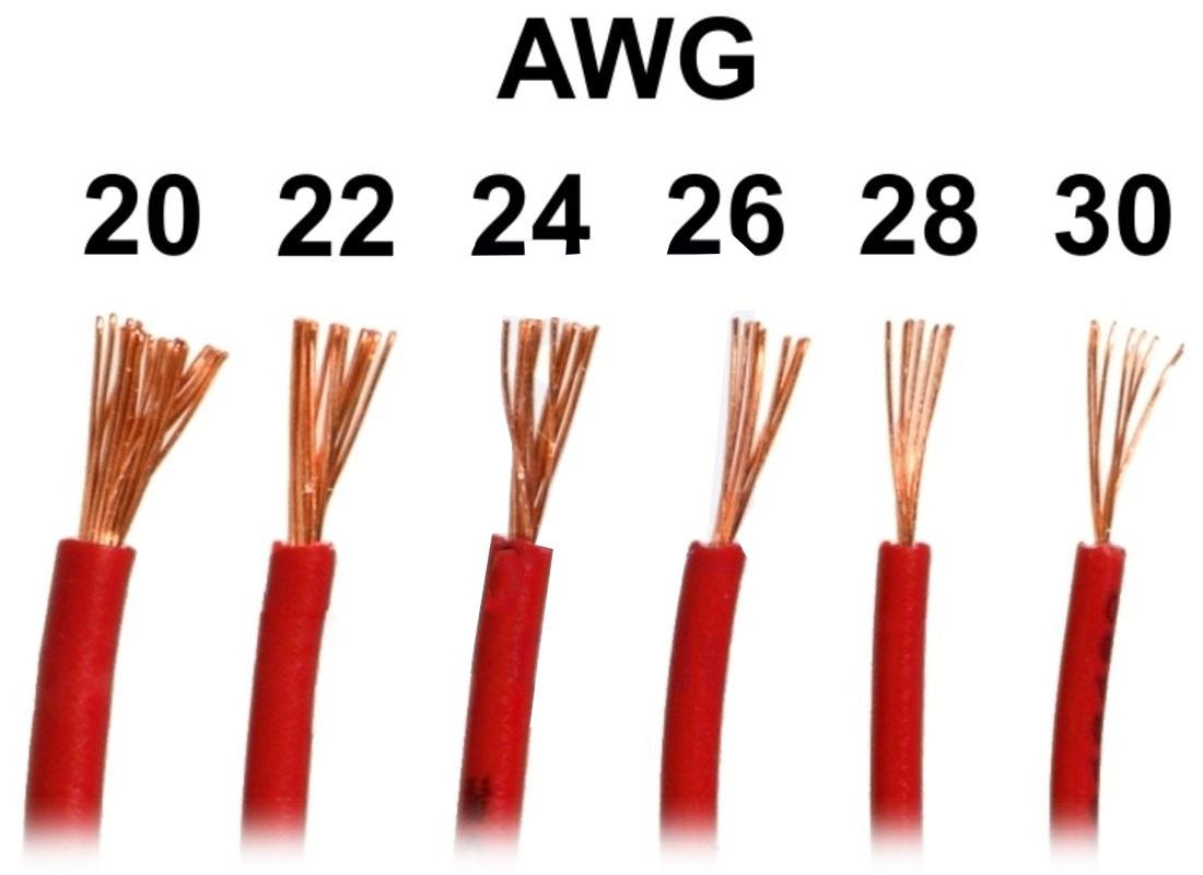 Označení vodičů AWG 20 až 30
