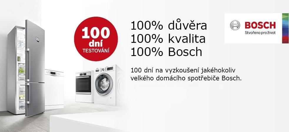 100 dní testování akce Bosch spotřebiče vrácení zboží