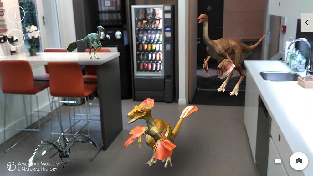 Dinosaurs Among Us Tango aplikace rozšířená realita