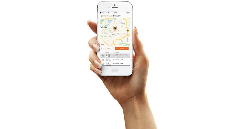 GPS lokátor; chytrý telefon; aplikace